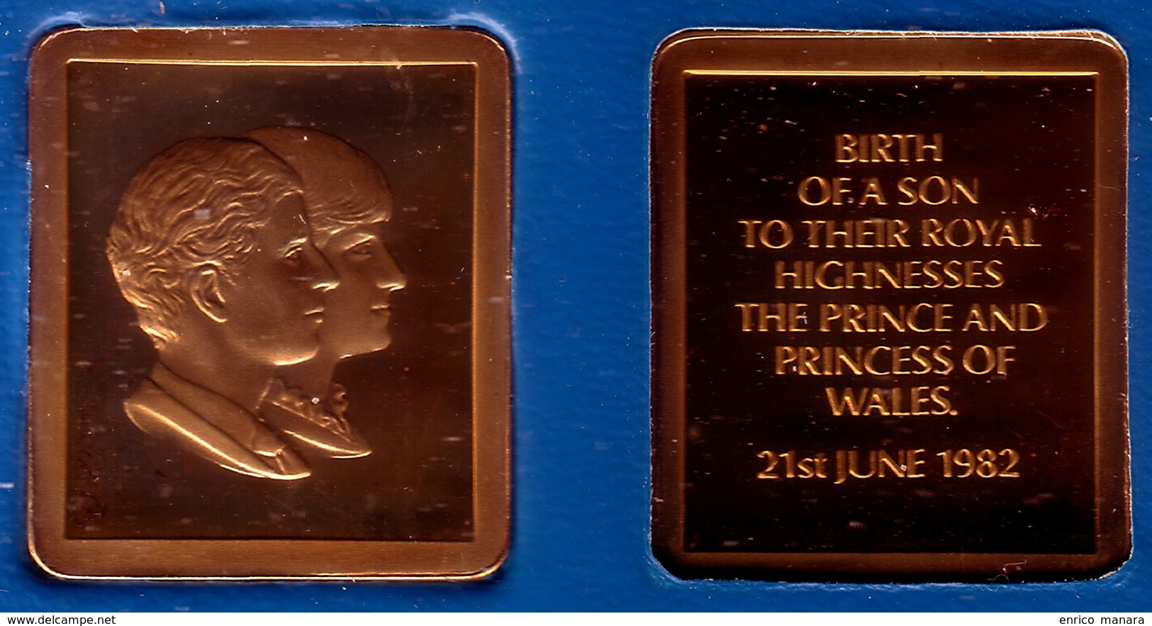 ISLE OF MAN - Medal 1982 - BIRTH OF PRINCE WILLIAM BronzeProof - Monarchia/ Nobiltà
