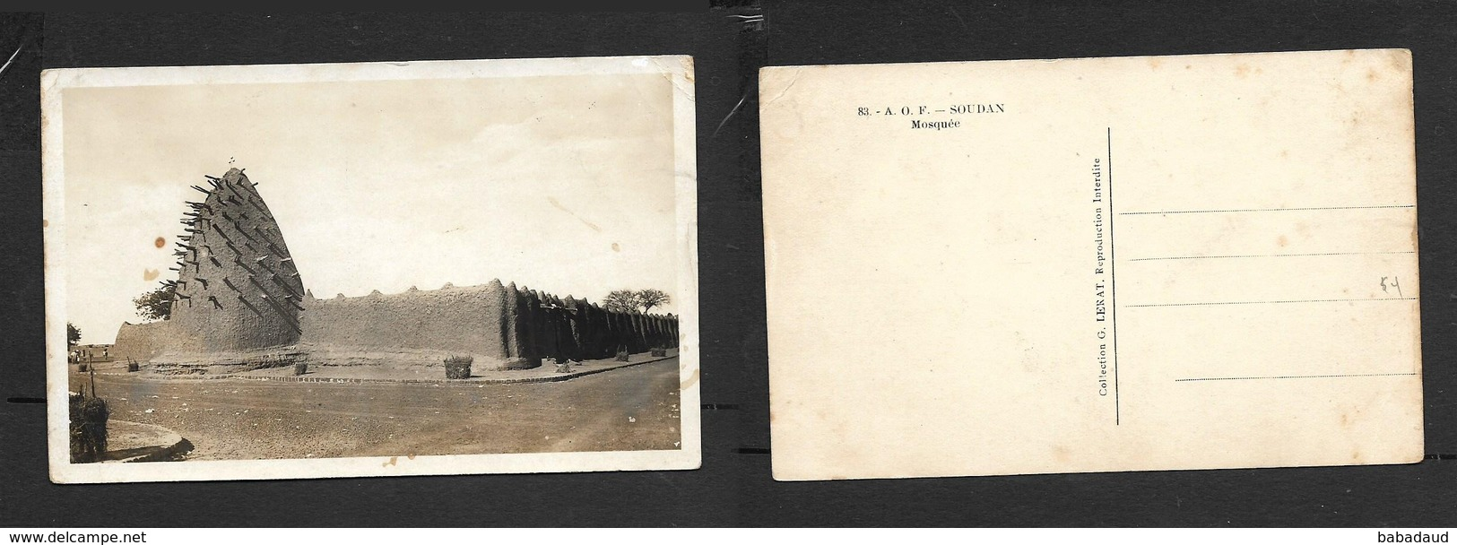 French Sudan (A.O.F.) No 83, Mosquee, Photo - Kenya