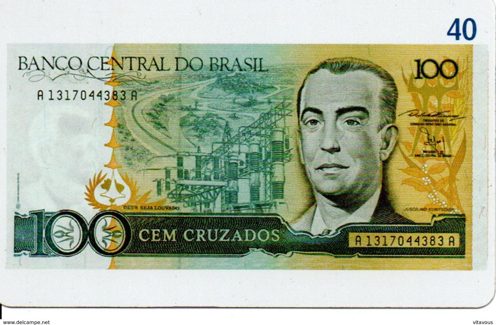 Télécarte Brésil   - Billet Monnaie Money Numismatique Bank Banque  Phonecard  (G 38) - Timbres & Monnaies