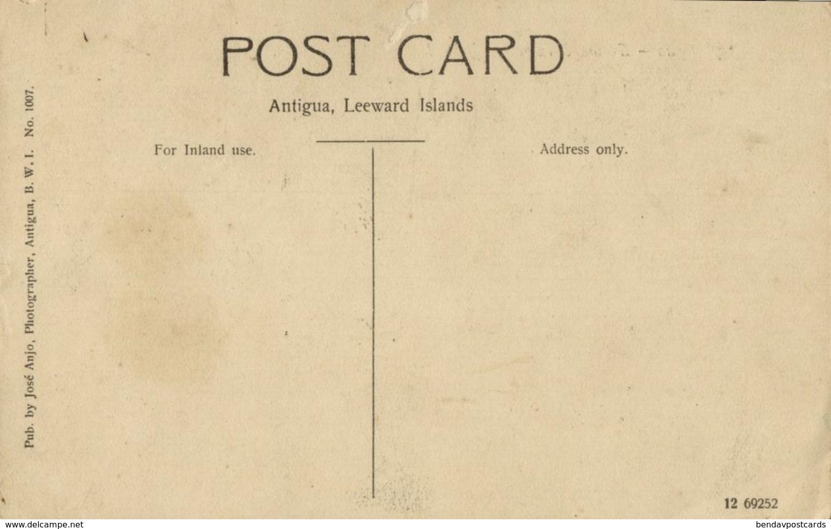 Leeward Islands, B.W.I., ANTIGUA, Partial View With Cannons (1910s) Postcard - Antigua & Barbuda