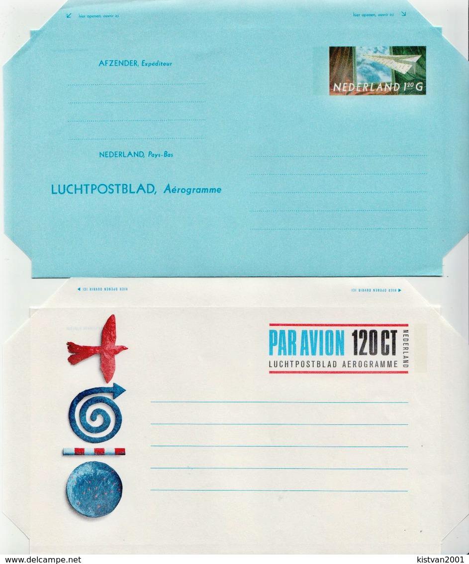 Netherlands 2 Mint Aerogrammes - Postal Stationery