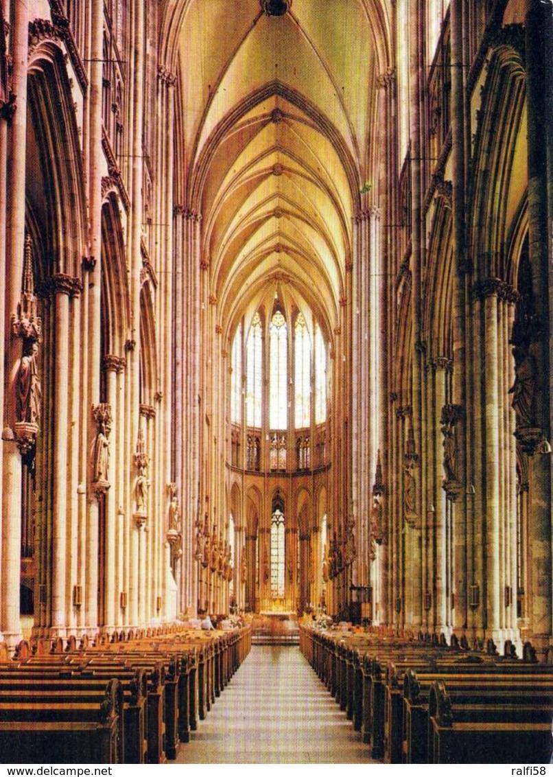1 AK Germany Nordrhein-Westfalen * Der Kölner Dom Innenansicht - Seit 1996 Weltkulturerbe Der UNESCO * - Köln