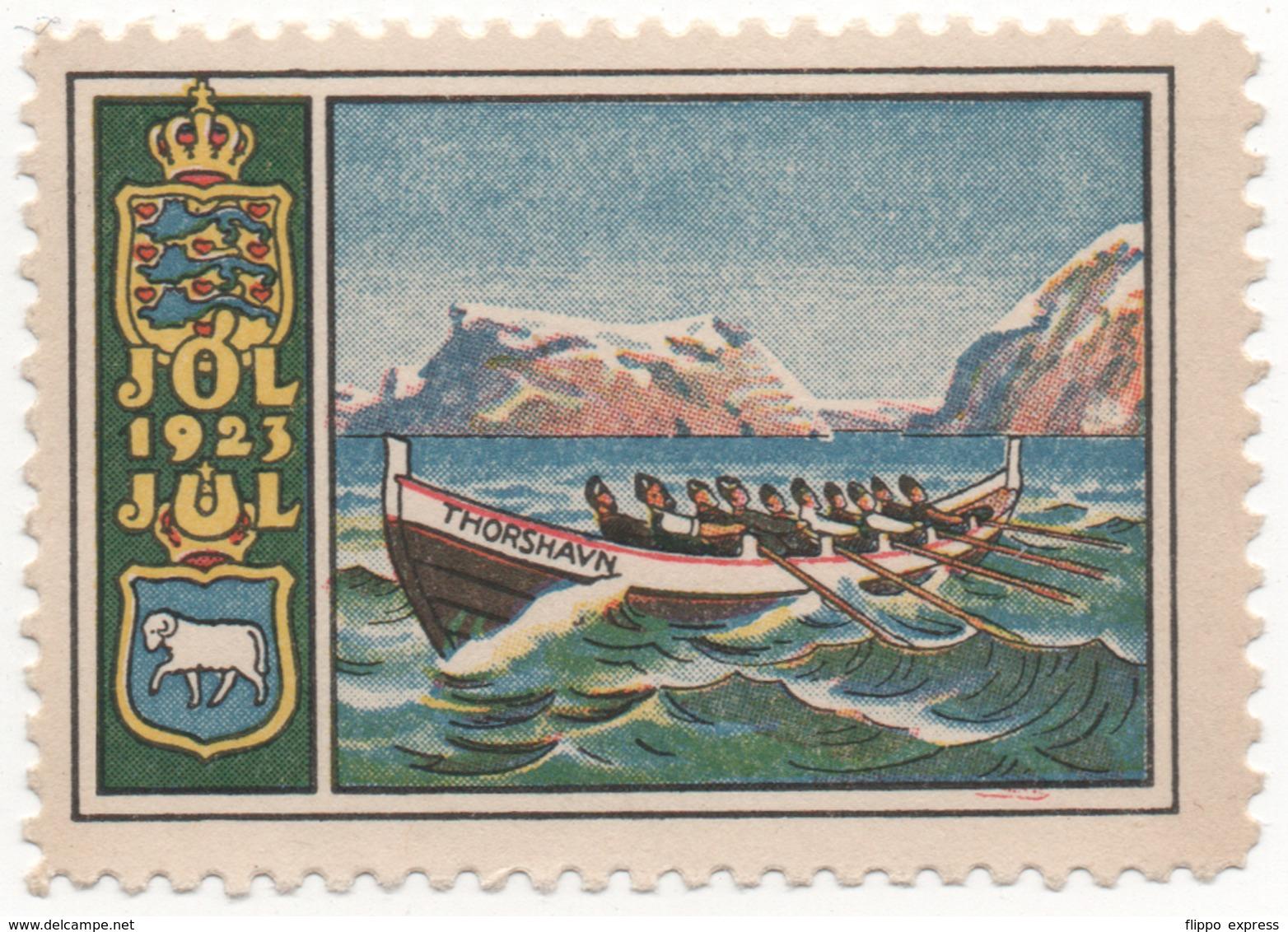 Denmark 1923, Julemaerke, Christmas Stamp, Vignet, Poster Stamp - Dänemark
