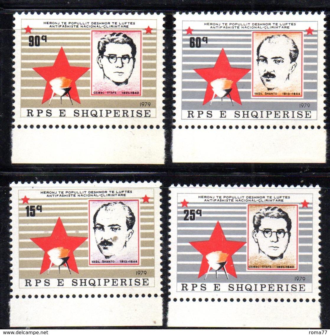 XP3978 - ALBANIA 1979 , Yvert Serie N. 1813/1816  *** Martiri - Albania