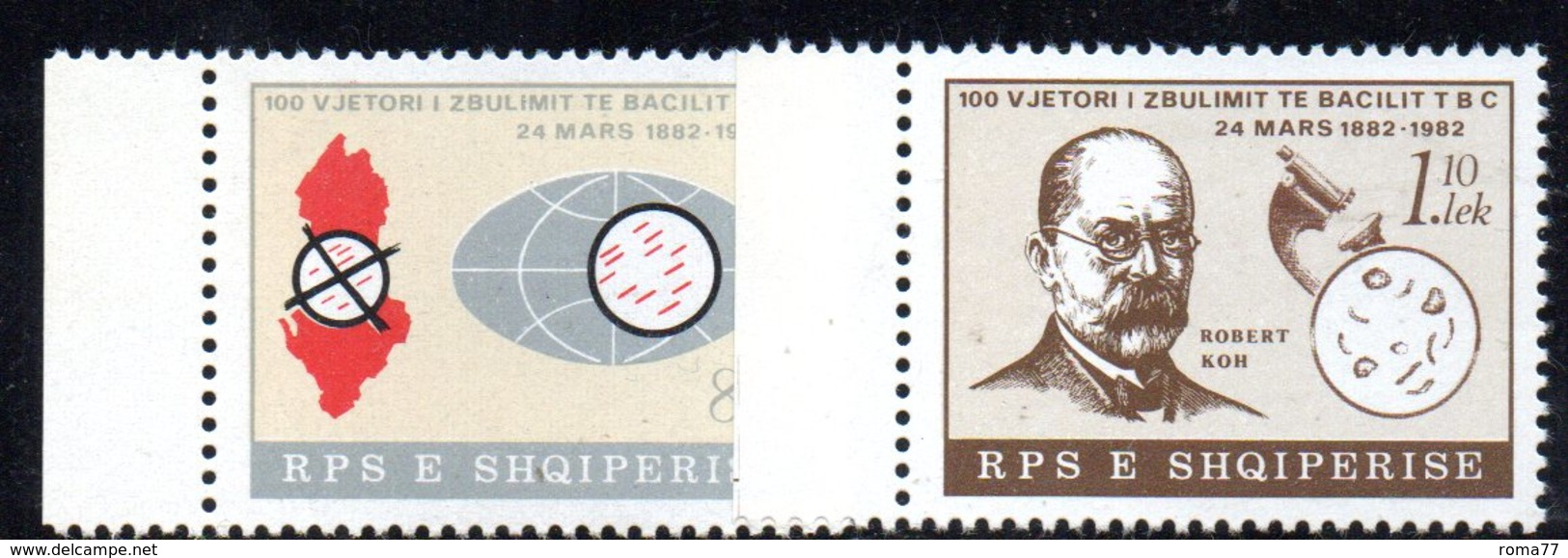 XP3980 - ALBANIA 1982 , Yvert Serie N. 1926/1927  *** Koch - Albania