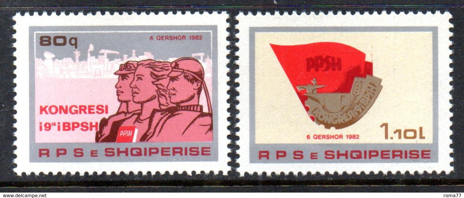 XP3982 - ALBANIA 1982 , Yvert Serie N. 1940/1941  ***  Sindacato - Albania