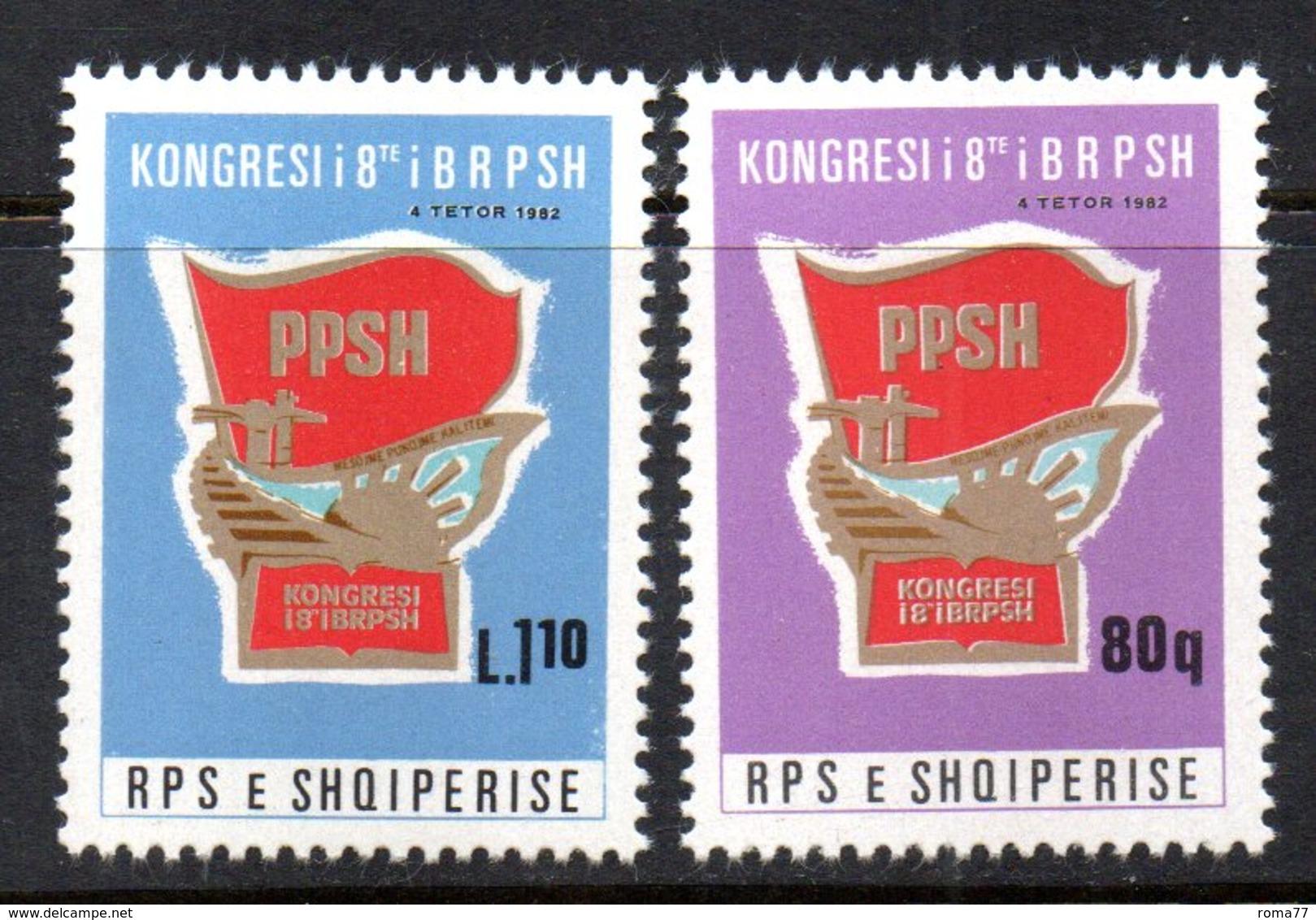 XP3984 - ALBANIA 1982 , Yvert Serie N. 1944/1945  ***  Gioventù Comunista - Albania