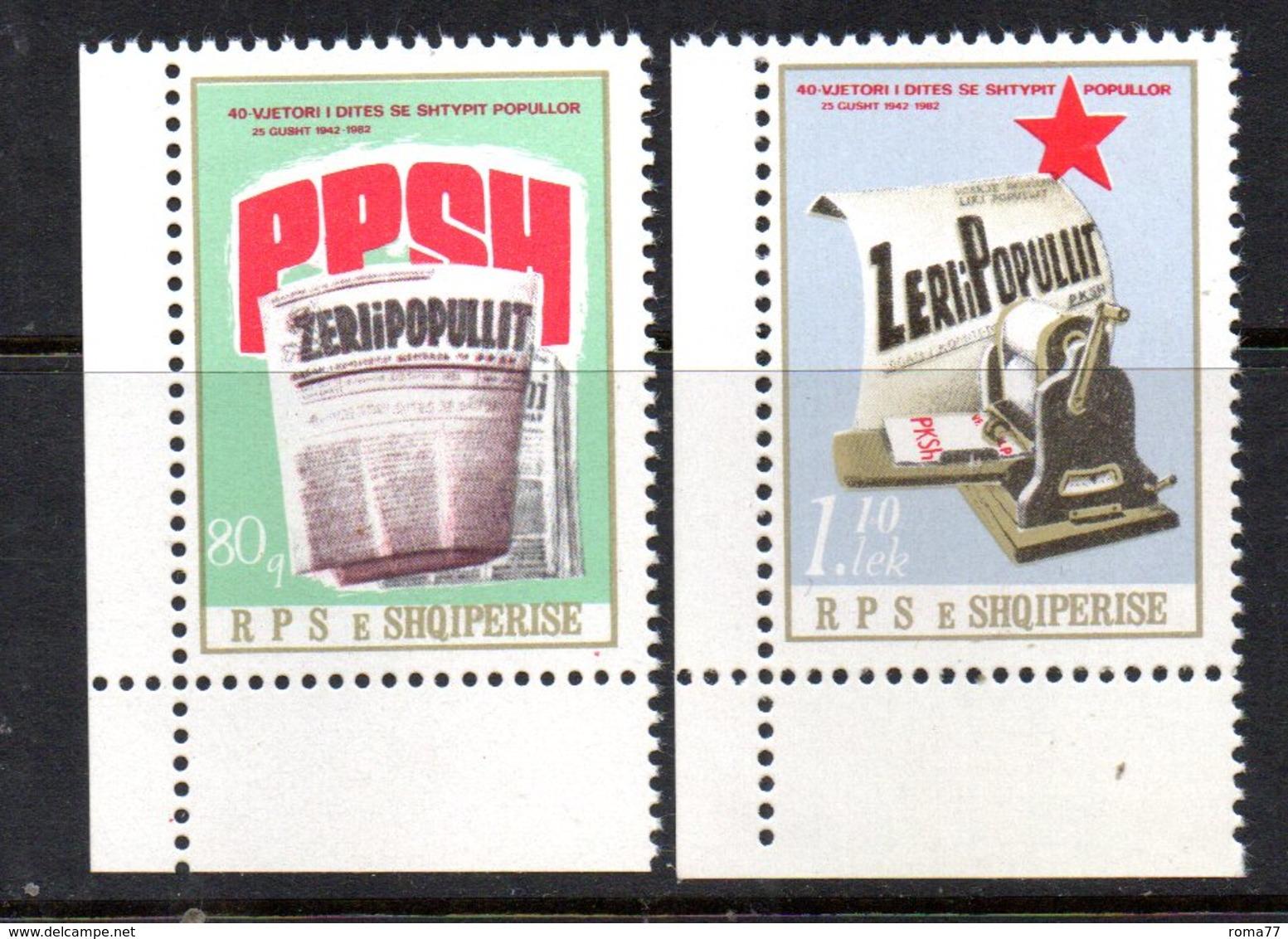 XP3985 - ALBANIA 1982 , Yvert Serie N. 1946/1947  ***  Stampa . Rara - Albania