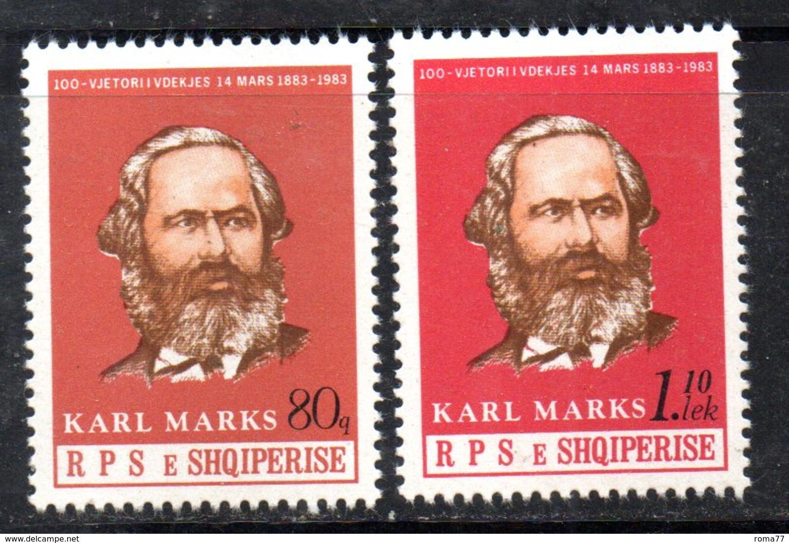 XP3988 - ALBANIA 1983 , Yvert Serie N. 1963/1964  *** Marx - Albania