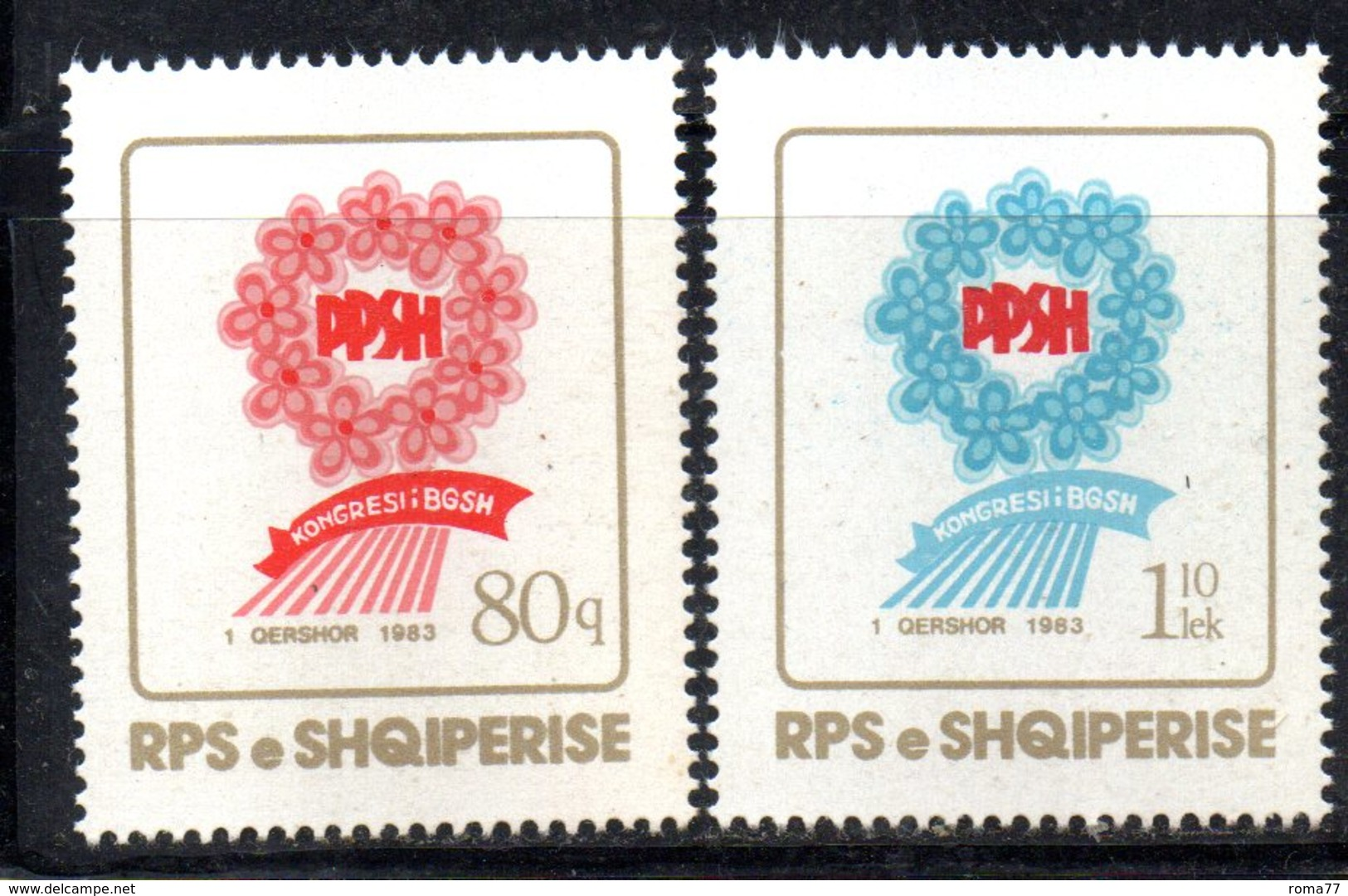 XP3989 - ALBANIA 1983 , Yvert Serie N. 1971/1972  *** Unione Donne - Albania