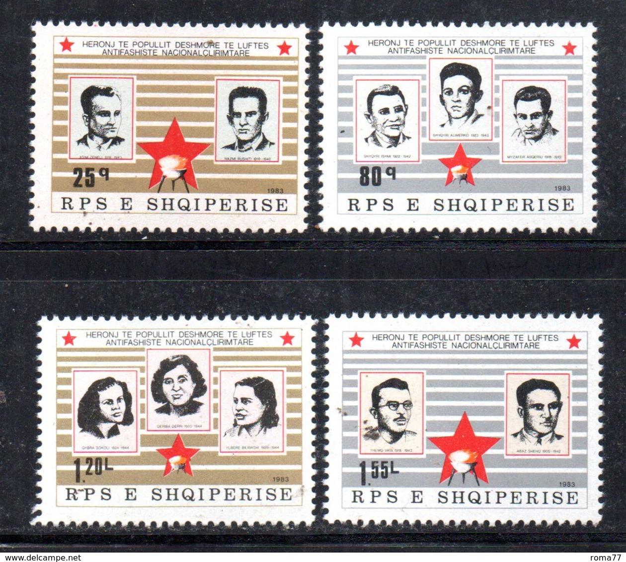 XP3990 - ALBANIA 1983 , Yvert Serie N. 1967/1970  ***  Martiri - Albania
