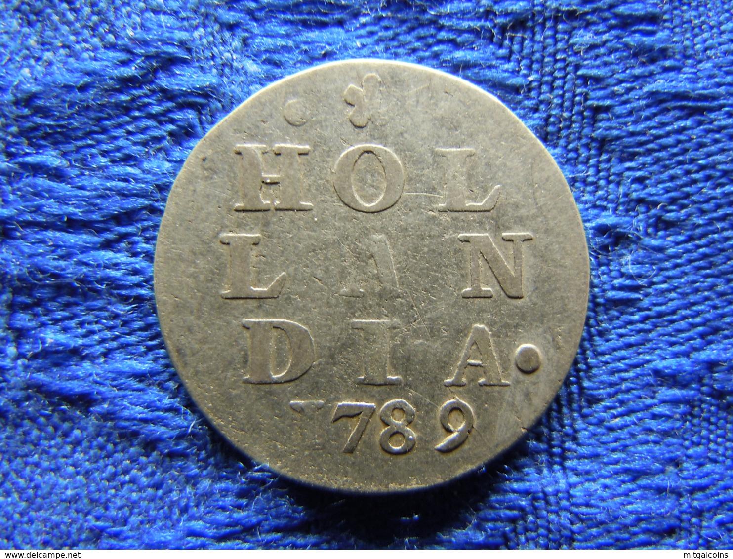 NETHERLANDS HOLLAND 2 STUIVERS 1789, KM48 - [ 1] …-1795 : Former Period