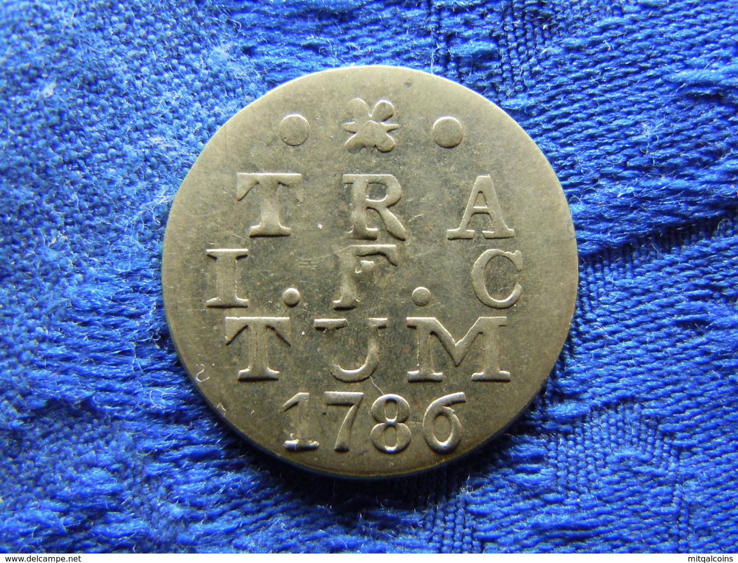 NETHERLANDS UTRECHT 2 STUIVERS 1786, KM112 - [ 1] …-1795 : Former Period