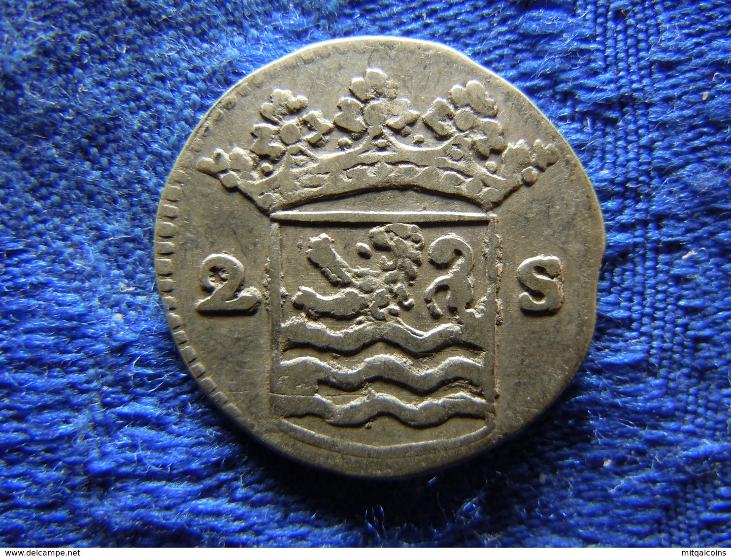 NETHERLANDS ZEELAND 2 STUIVERS 1733, KM59 - [ 1] …-1795 : Former Period