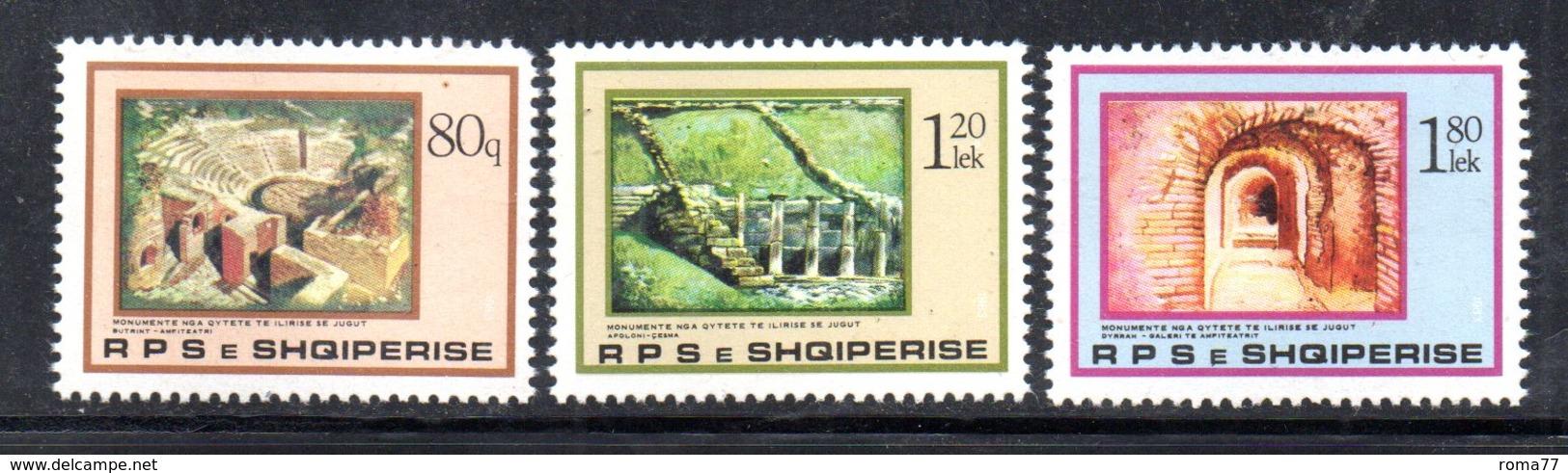 XP3994 - ALBANIA 1983 , Yvert Serie N. 1997/1999  ***  Illiria - Albania