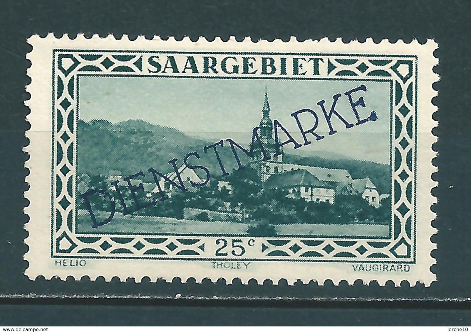 Saar MiNr. D 25 Plattenfehler XIV  (sab22) - Dienstmarken