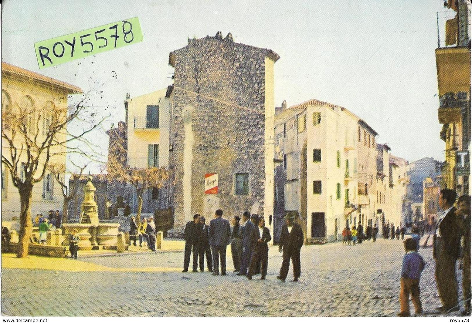Lazio-latina-norma Il Corso Veduta Corso Fontana Persone Case Negozi Tabacchi Animatissima Anni 50/60 - Altre Città