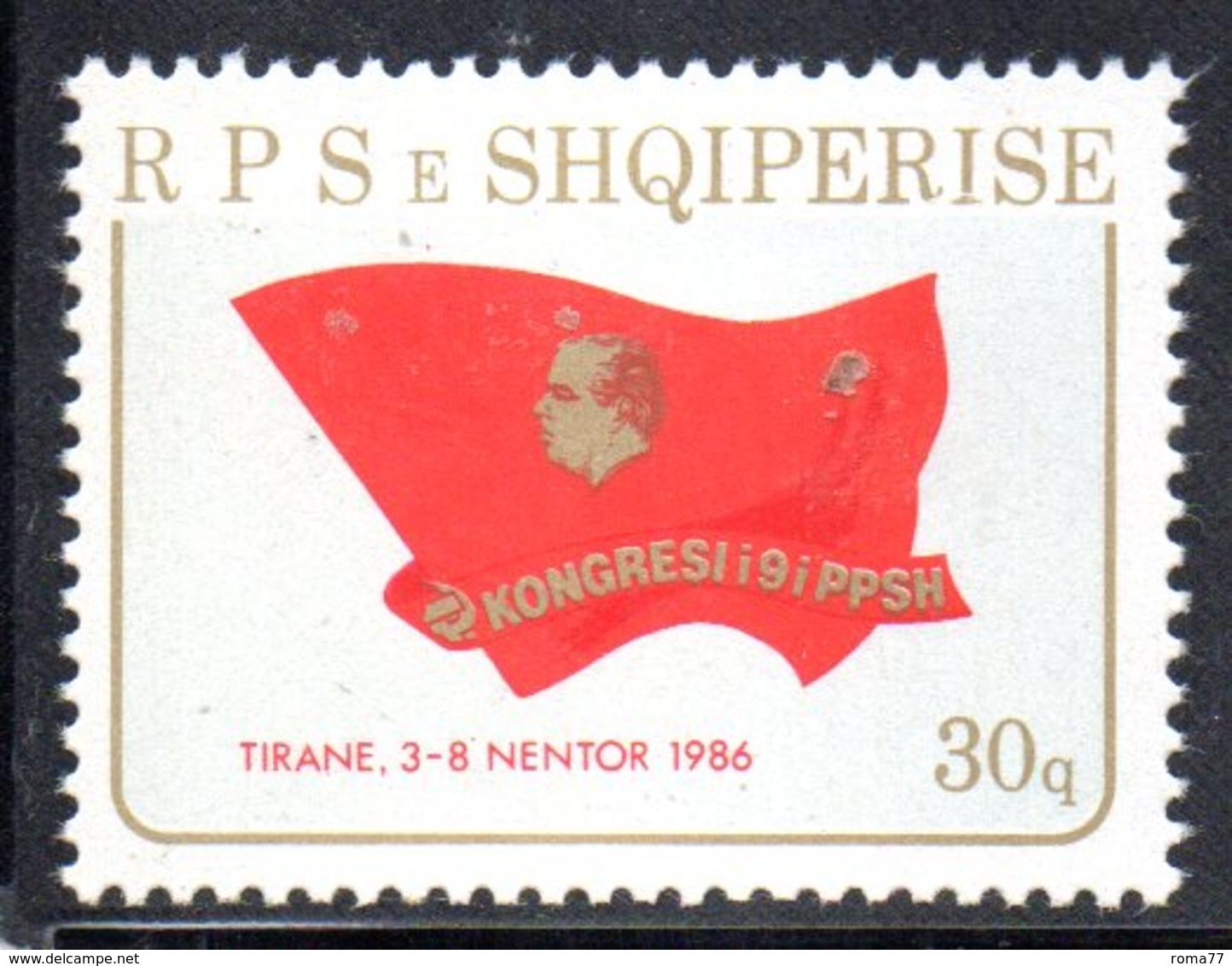 XP4012 - ALBANIA 1986 , Yvert Serie N. 2114  ***   Partito Comunista - Albania