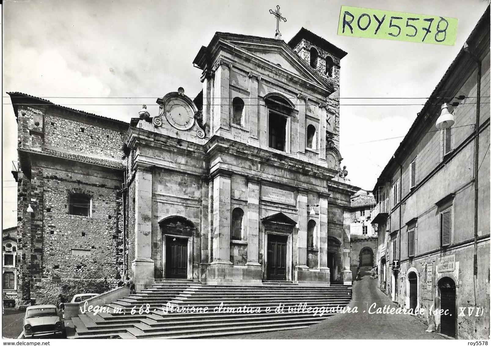Lazio-roma-segni Cattedrale Veduta Scale Auto Epoca Negozi Norcineria Tabacchi - Italia