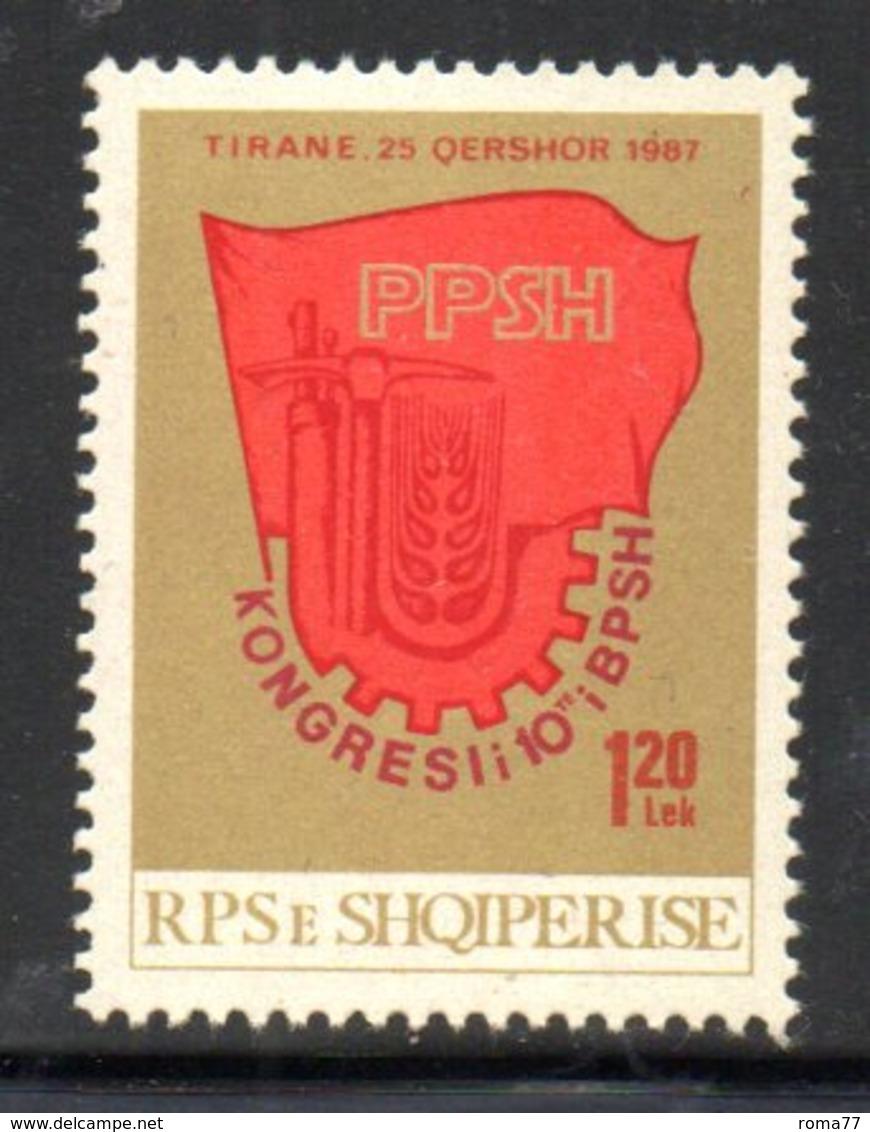 XP4015 - ALBANIA 1987 , Yvert Serie N. 2143  ***  Sindacati - Albania