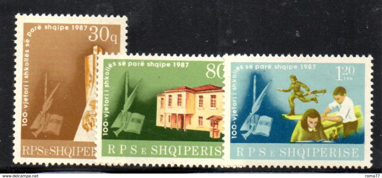 XP4016 - ALBANIA 1987 , Yvert Serie N. 2133/2135  *** - Albania