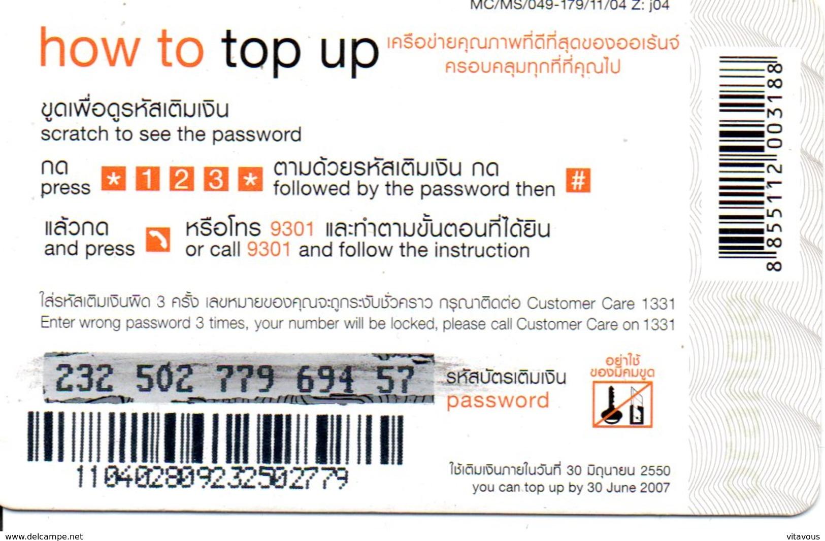 Timbre Stamp  - Carte Prépayée Thaïlande Card  (G 50) - Timbres & Monnaies