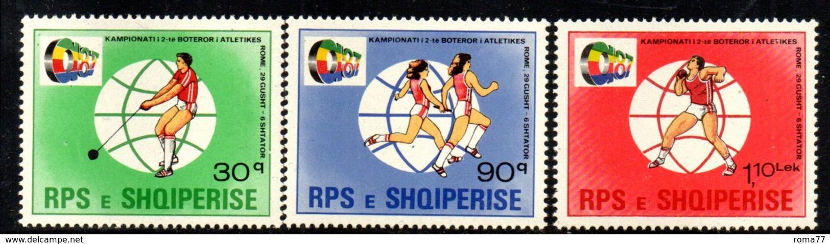 XP4019 - ALBANIA 1987 , Yvert Serie N. 2148/2150  ***  Atletica - Albania