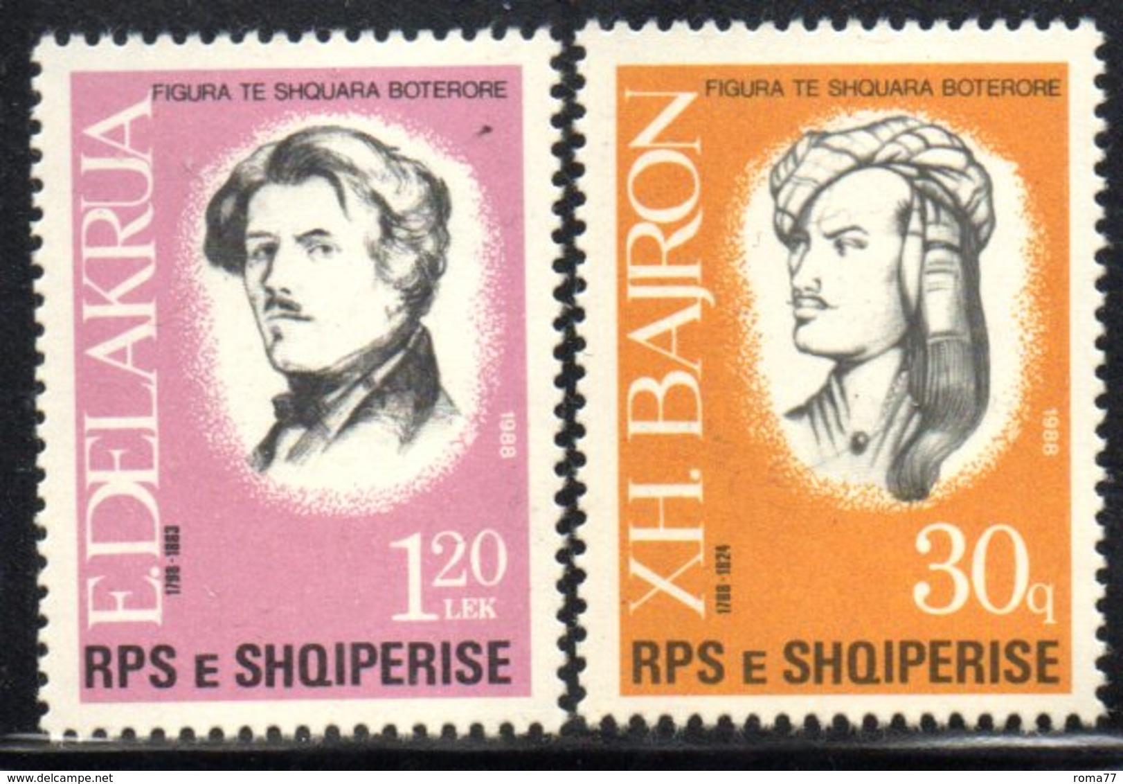 XP4022 - ALBANIA 1988 , Yvert Serie N. 2159/2160  *** Byron Delacroix - Albania