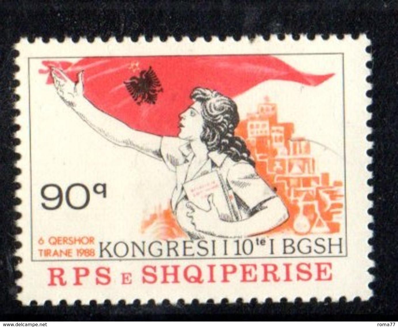 XP4024 - ALBANIA 1988 , Yvert Serie N. 2166  *** Donne Albanesi - Albania
