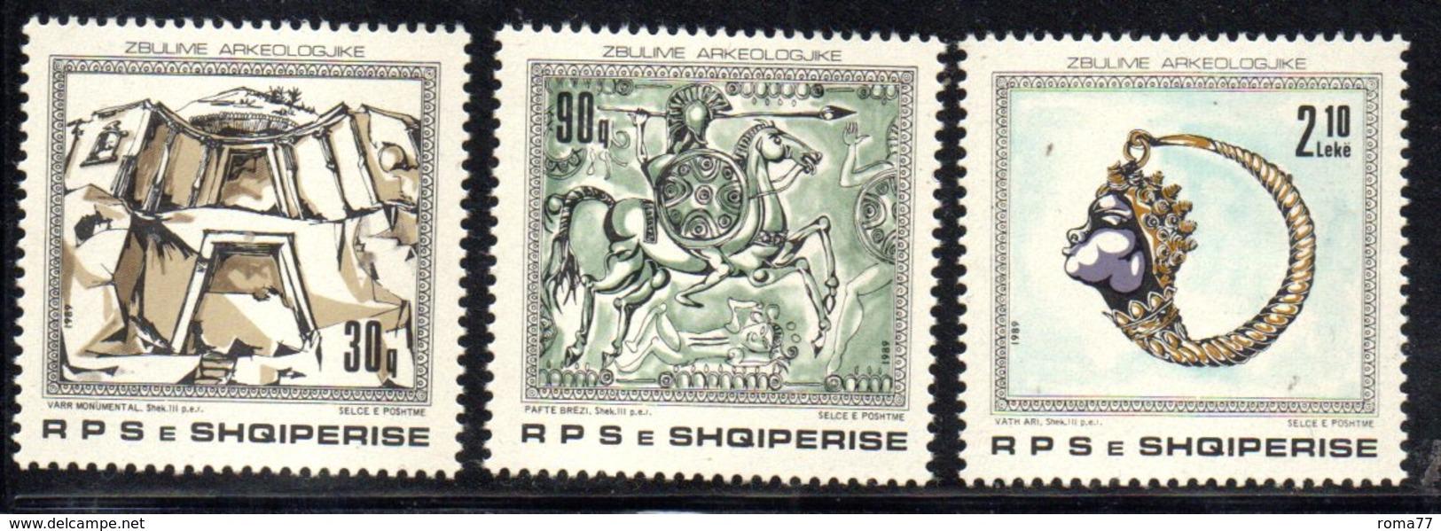 XP4029 - ALBANIA 1989 , Yvert Serie N. 2180/2182  *** - Albania