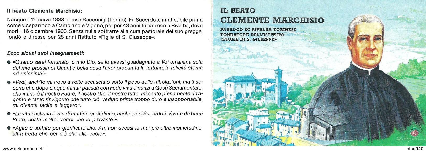 Beato CLEMENTE MARCHISIO - CON RELIQUIA - A - Mm. 83 X 120 - Religione & Esoterismo