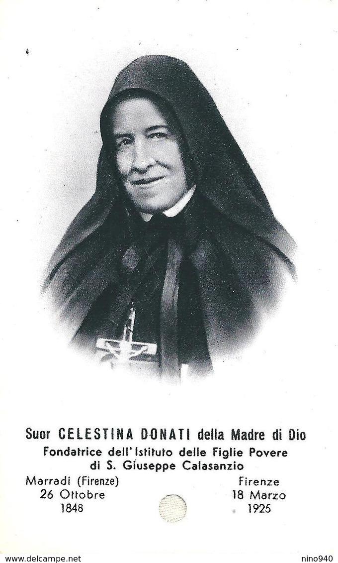 S.d.D. Suor CELESTINA DONATI - CON RELIQUIA - Mm. 65 X 108 - Religione & Esoterismo