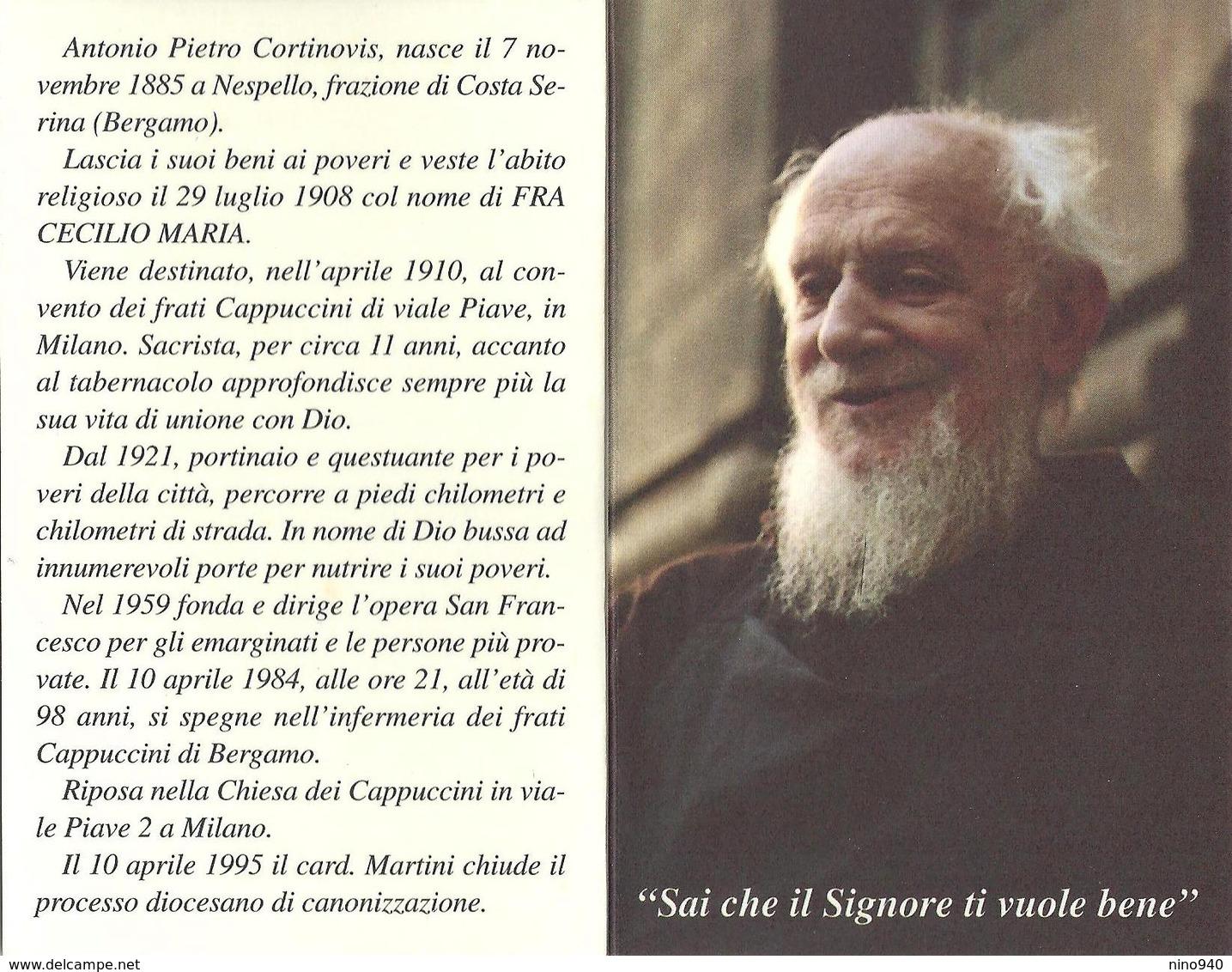 S.D.D. FRA CECILIO MARIA - CON RELIQUIA - A - Mm. 70 X 110 - Religione & Esoterismo