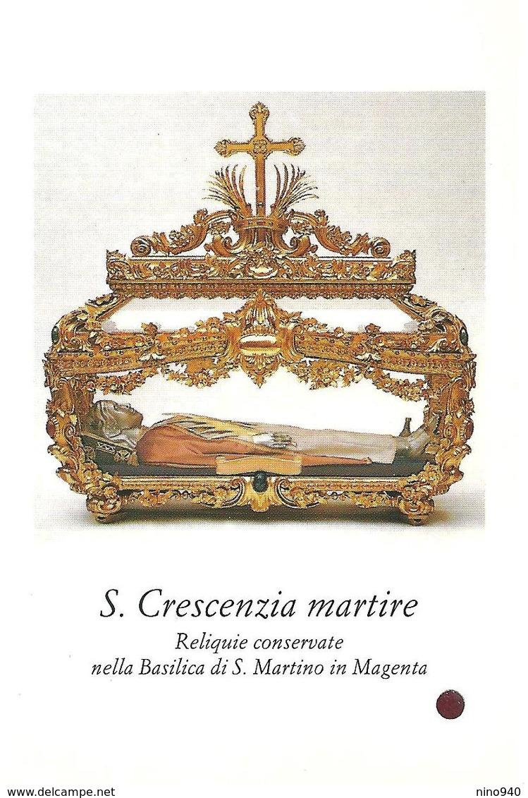 S. CRESCENZIA M. - CON RELIQUIA -  Mm. 70 X 110 - Religione & Esoterismo