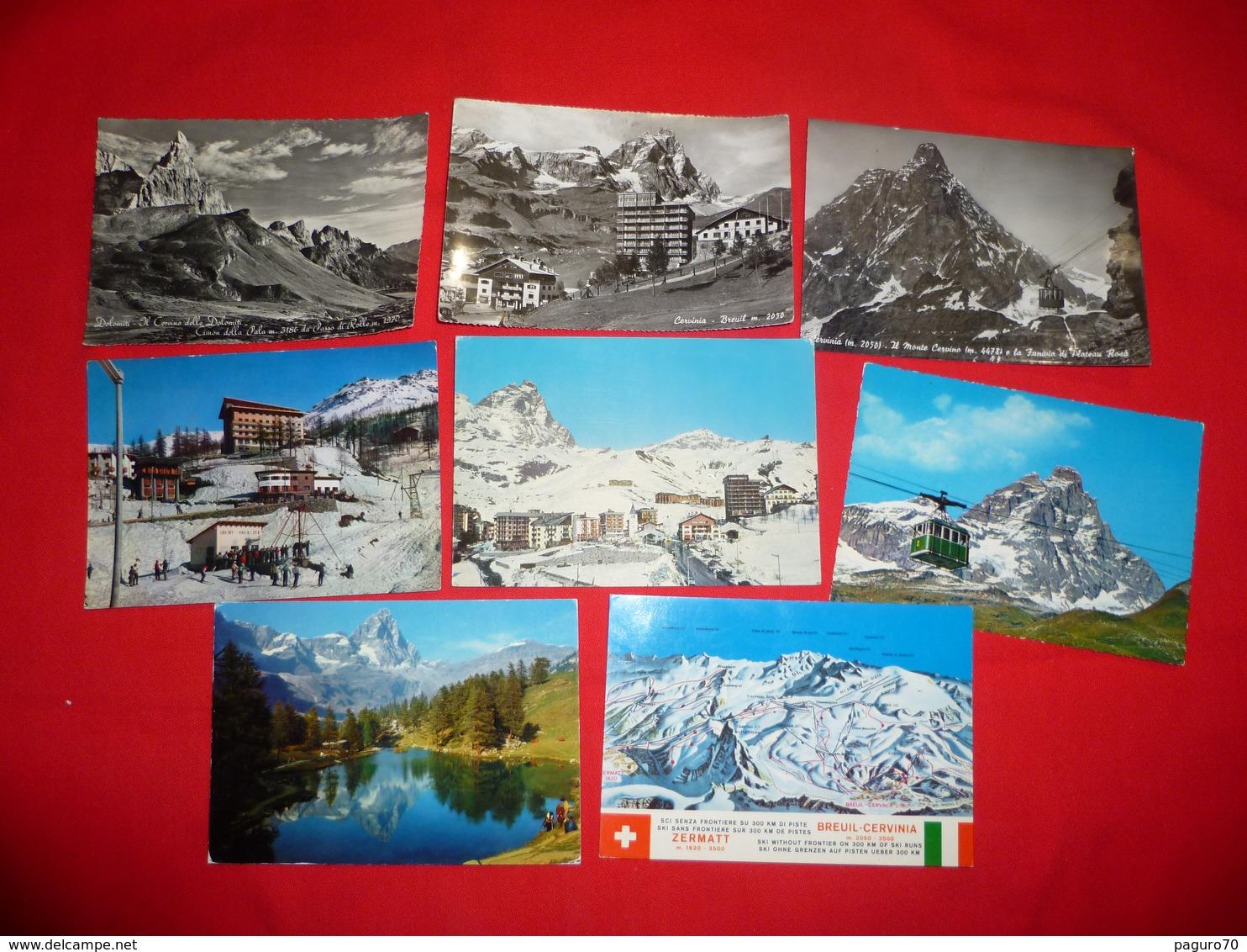 Lotto 8 Cartoline Cervinia Cervino Valle D'Aosta - Altre Città