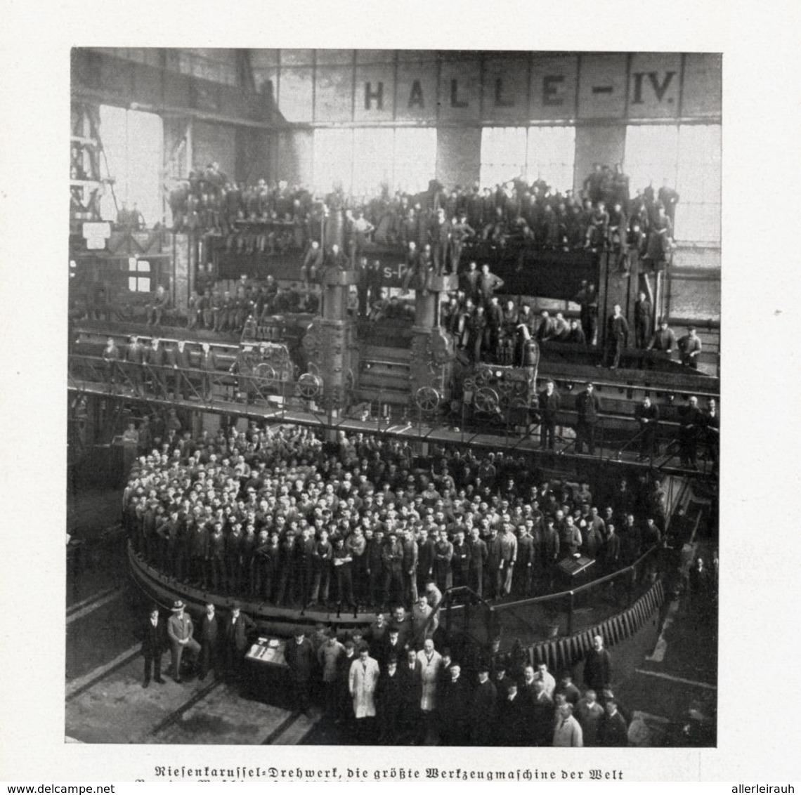 Riesenkarusselldrehwerk-Die Größte Werkzeugmaschine Der Welt In Düsseldorf     / Druck, Entnommen Aus Zeitschrift / 1933 - Bücher, Zeitschriften, Comics