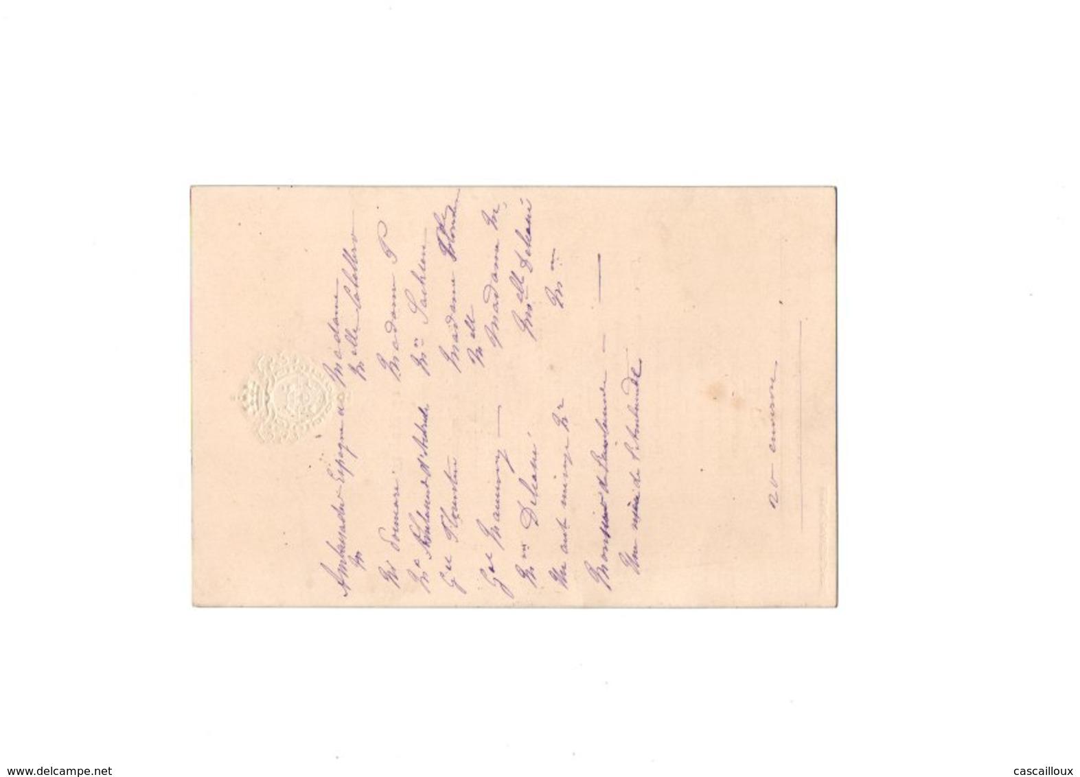 Menu De 1912 - Menus