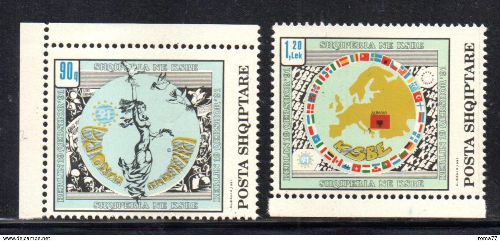 XP4032 - ALBANIA 1992 , Yvert Serie N. 2274/2275  *** - Albania