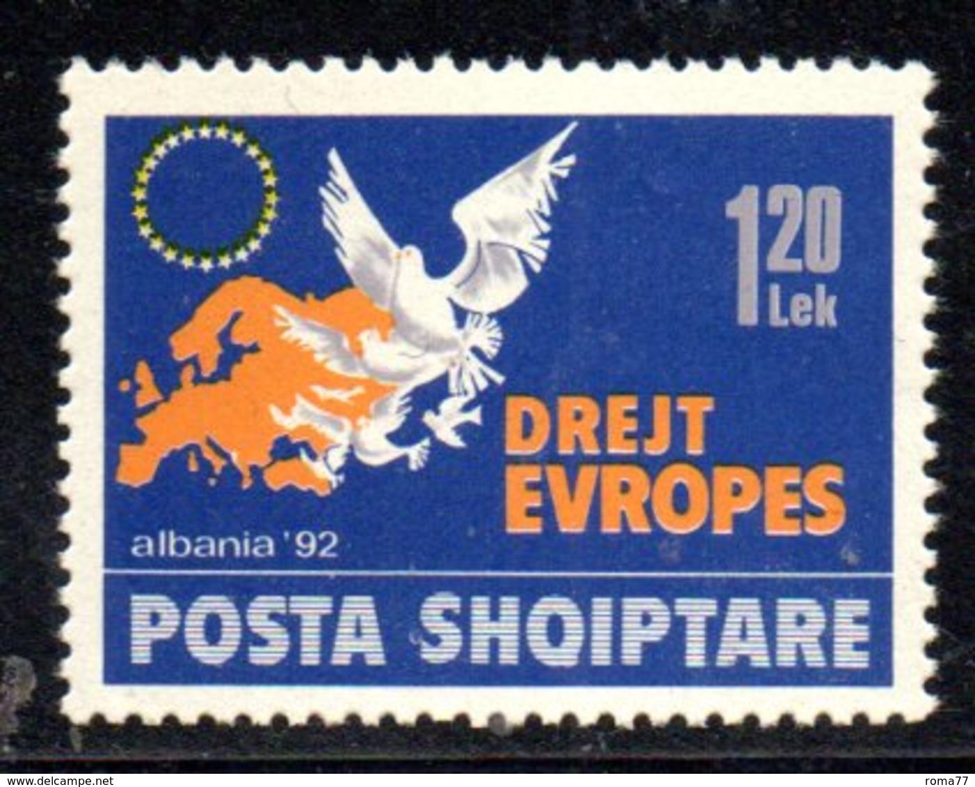 XP4034 - ALBANIA 1992 , Yvert Serie N. 2290  ***  Verso Europa - Albania