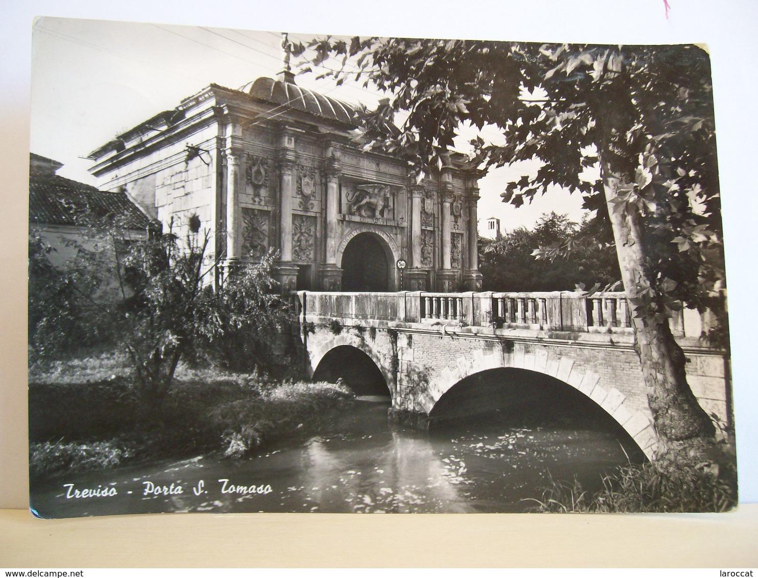 1952 - Treviso - Porta S. Tomaso Del 1518 ( Ora Porta Mazzini ) - Ponte - Timbro A Cassetta Di Domegge Di  Cadore - Treviso