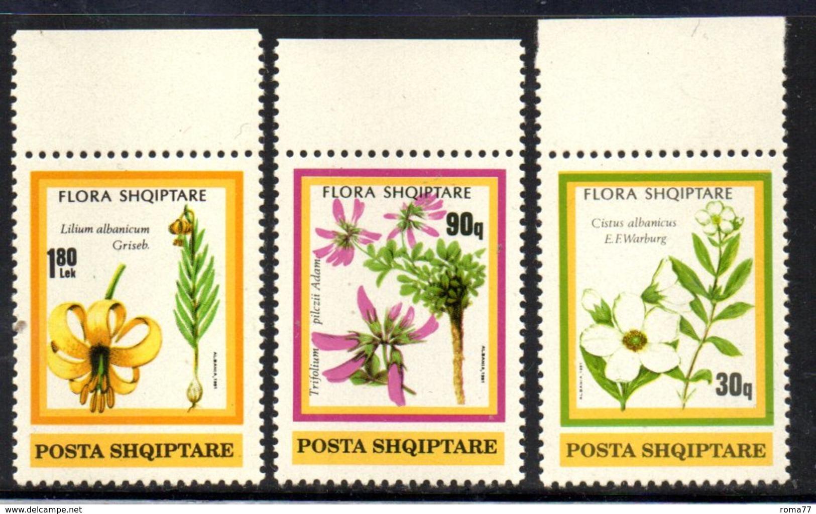XP4040 - ALBANIA 1991 , Yvert Serie N. 2257/2259  ***  Fiori - Albania