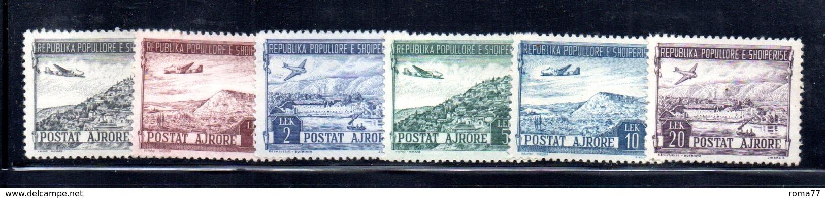 XP4041 - ALBANIA 1950 , Posta Aerea Yvert Serie N. 44/49  * - Albania