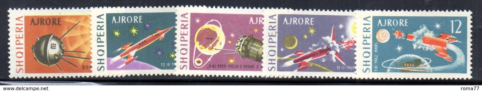 XP4043 - ALBANIA 1963 , Posta Aerea Yvert Serie N. 61/65  *  Cosmos - Albania