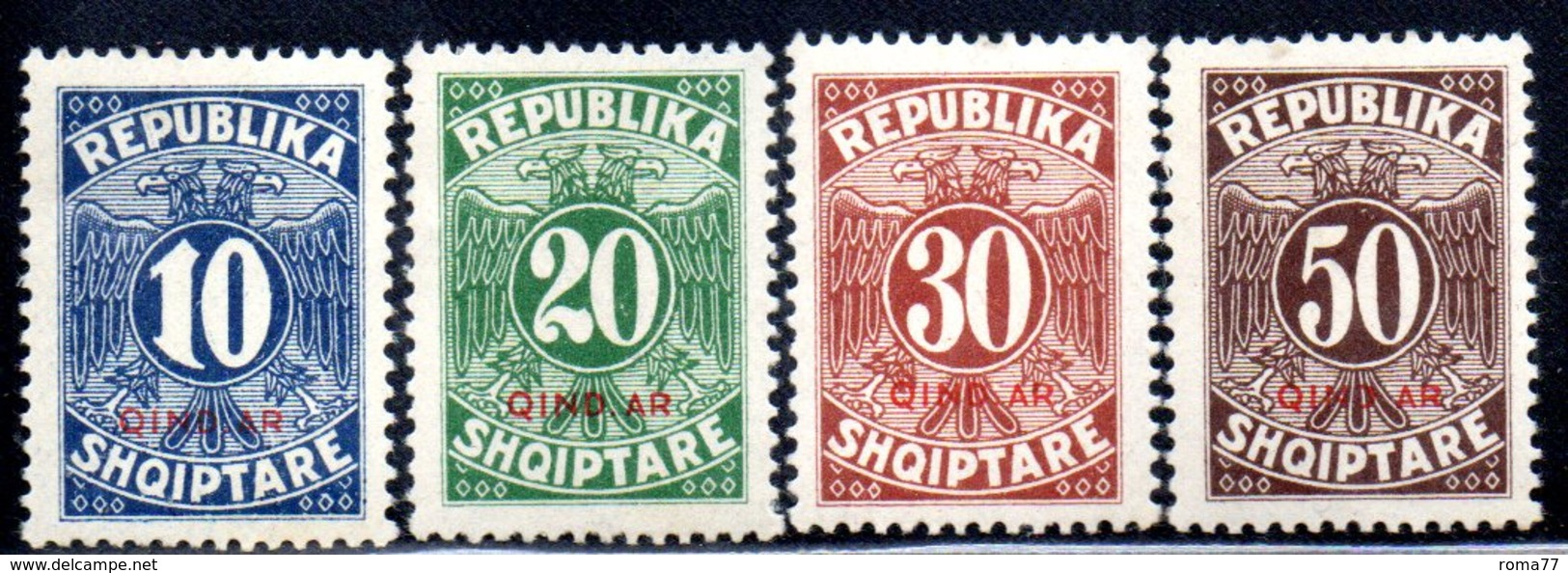 XP4048 - ALBANIA 1926 , Segnatasse Yvert Serie N. 26/29  * - Albania
