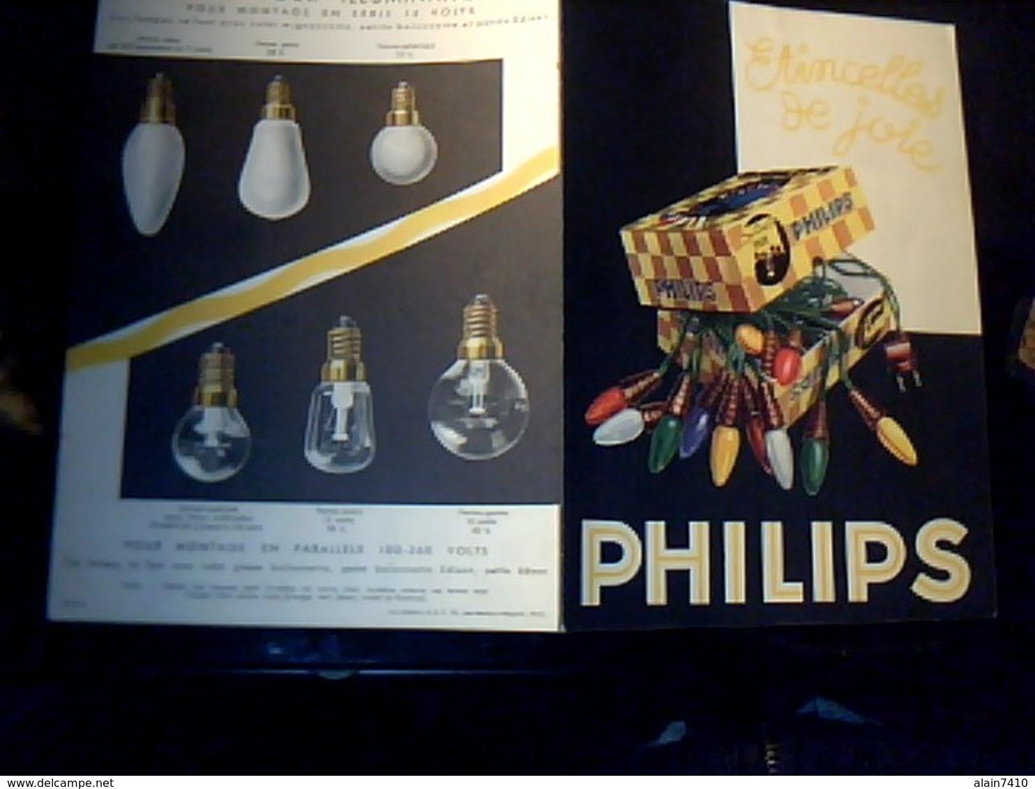 Publicité Tract 2 Pages Lampes  D Illumination Philips   Pour Montage En Serie - Publicités