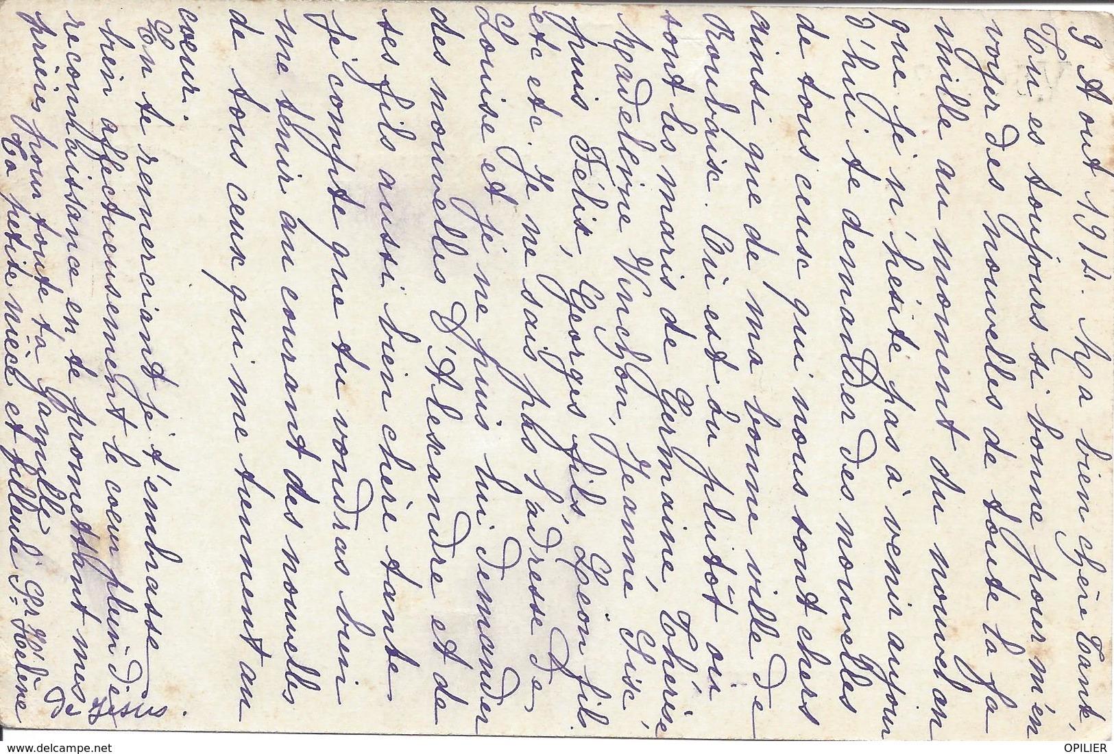 VALLADOLID 9 Aout 1914 Entier Postal Pour Le Château De Lys Les Lannoy Armoirie Toison D'or Texte Debut Guerre 14 - Entiers Postaux