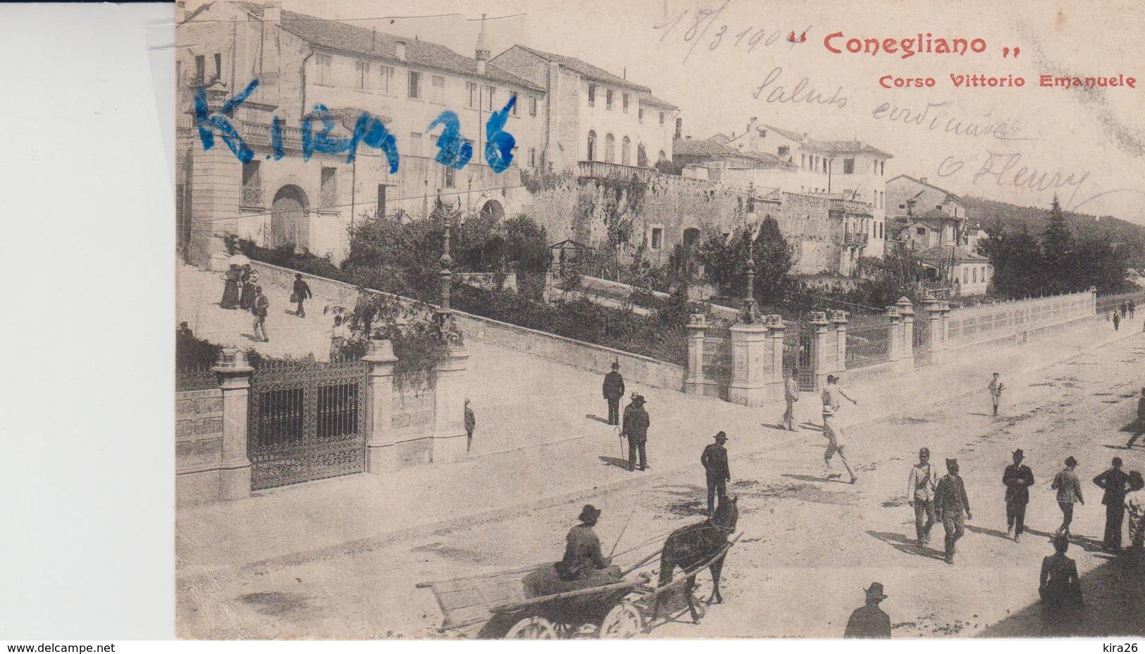 Conegliano Treviso Corso Vittorio Emanuele Animata - Altre Città