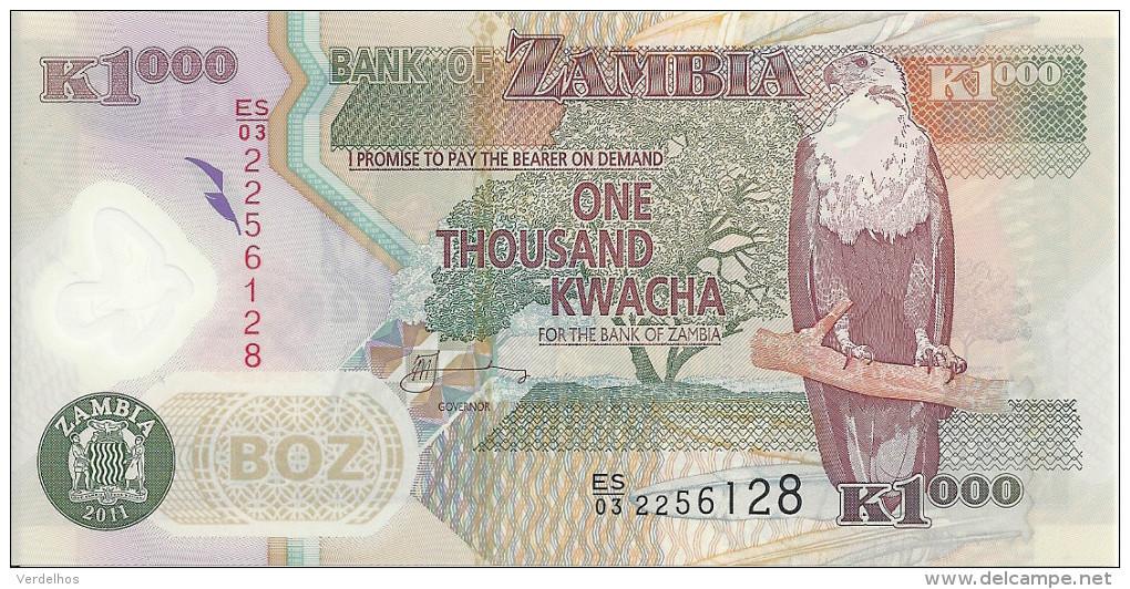 ZAMBIE 1000 KWACHA  2011 UNC P 44 H - Zambie
