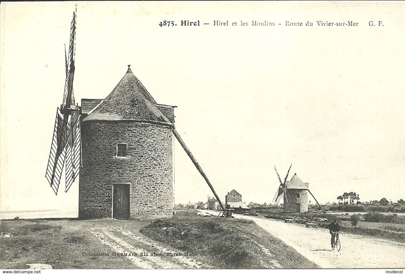 HIREL  -- Les Moulins , Route Du VIVIER SUR MER              .    --  G F 4875 - France