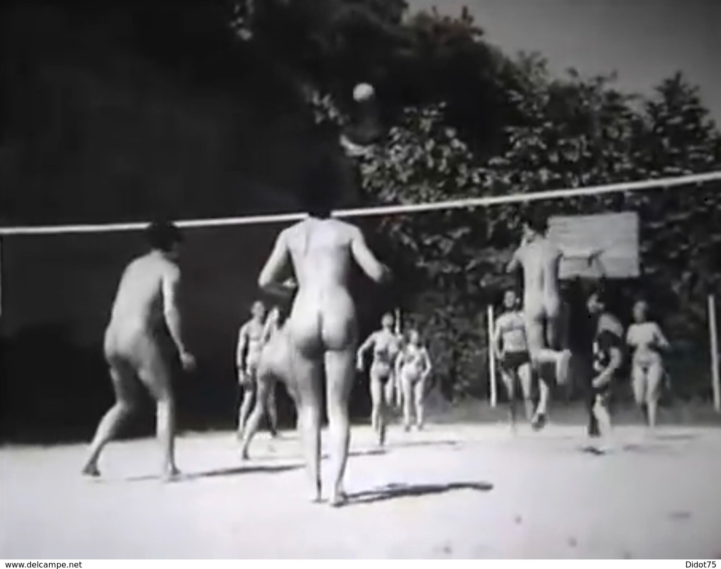 Nudisme Naturistes Jouant Au Volley-ball - Anonymous Persons